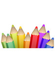 realistic 3d wooden color pencils vector image