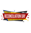 reconciliation day banner design vector image vector image