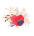 romantic hearts vignette vector image