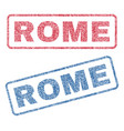 rome textile stamps vector image