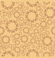 seamless henna flower mandala for print on textile vector image
