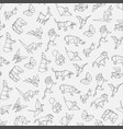 seamless pattern of origami vector image vector image