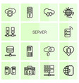 server icons vector image vector image