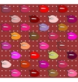 set of colorful lips vector image vector image