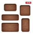 Set of old wooden boards vector image vector image