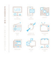 set of promotion icons and concepts in mono thin vector image vector image