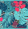 summer abstract seamless pattern background with vector image