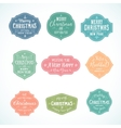 Vintage Typography Soft Color Cute Christmas vector image vector image