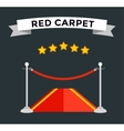 VIP zone red carpet vector image vector image