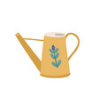 watering can or pot decorated cute flower vector image