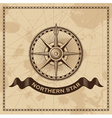 Wind Rose - nautical compass vector image vector image