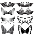 wings tattoo silhouette vector image