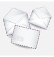 Blank white envelopes opened and close vector image