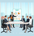 a manager businessman leading presentation vector image