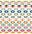 abstract eye pattern color eyes occult geometric vector image vector image