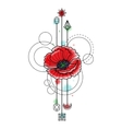 Abstract Watercolor Poppy Tattoo vector image vector image