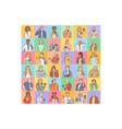 avatars people diversity worldwide concept vector image