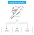 baseball basket ball game fun business flow chart vector image vector image