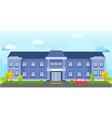 big school building landscape vector image