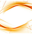 bright orange high-tech swoosh wave background vector image vector image