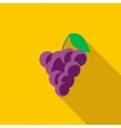 Bunch of wine grapes icon flat style vector image vector image