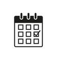 calendar black glyph icon vector image