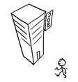 cartoon man or businessman or employee walking vector image vector image