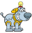 Cartoon mechanical dog vector image vector image