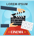 cinema poster template vector image