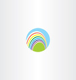 circle rainbow logo sign vector image vector image