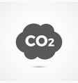 co2 icon on white vector image vector image