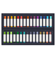 colorful permanent markers or highlighters vector image vector image