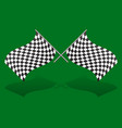 crossed chequered racing flags editable graphics vector image