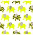 cute elephant cartoon neon green vector image vector image