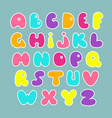 cute hand drawn alphabet funny comics font vector image vector image