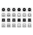 Easy medium hard level with stars buttons set vector image vector image