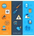 Electricity Banners Set vector image vector image