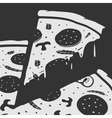 Emblem Pizza vector image vector image
