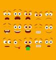 emoji faces for emoticon constructor vector image