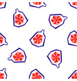 exotic fig fruit seamless pattern vector image vector image