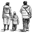 Family on walk