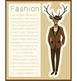 Fashion dressed up deer vector image vector image