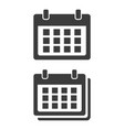 flat calendar icon on white background vector image vector image