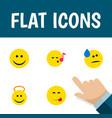 flat icon emoji set of delicious food descant vector image vector image
