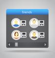 friends set vector image vector image