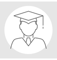 Graduate avatar line icon vector image vector image