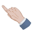hand sign pointing finger vector image vector image