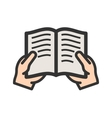 Holding Book vector image vector image