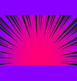 hyper speed warp sun rays or explosion boom for vector image vector image