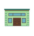 icon of a stylish building facade with a large vector image vector image